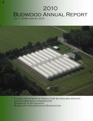 2010 Budwood Annual Report - Florida Department of Agriculture ...