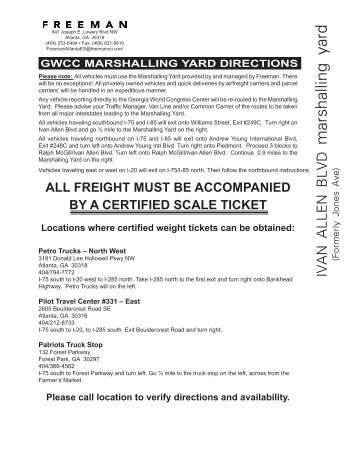 gwcc marshalling yard directions