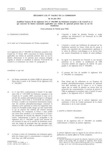 Règlement (UE) no 556/2012 - EUR-Lex - Europa