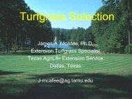 Turfgrass Selection - Texas AgriLife Extension Service
