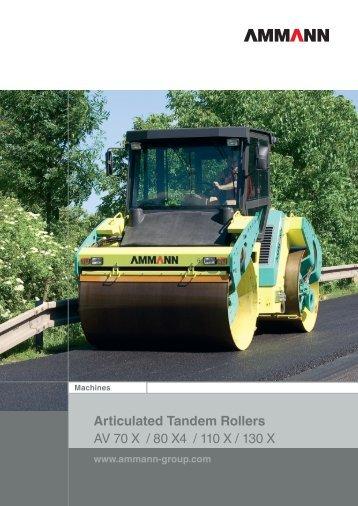 Articulated Tandem Rollers AV 70 X / 80 X4 / 110 X / 130 X