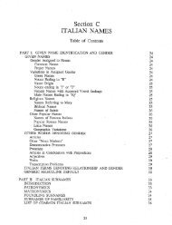 Section C ITALIAN NAMES