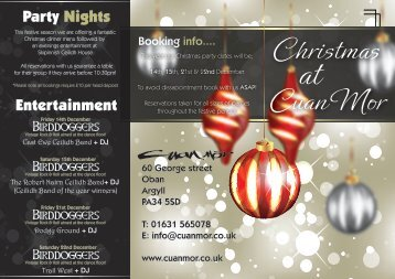 to download the Christmas Brochure - Cuan Mor