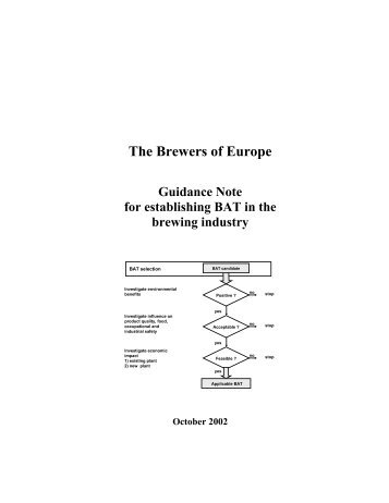 Guidance Note for establishing BAT - The Brewers of Europe