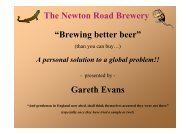 """The Newton Road Brewery """"Brewing Better Beer"""""""