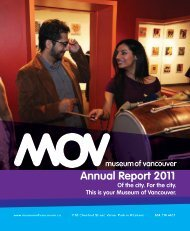 Annual Report 2011 - Museum of Vancouver