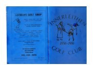 Download Centenary booklet - Innerleithen Golf Club