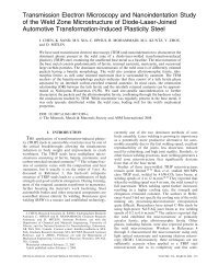 Transmission Electron Microscopy and Nanoindentation Study of the ...