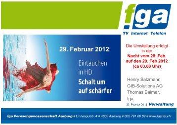 Hd-Umstellung vom 29. 2. 2012