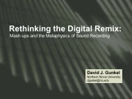 Rethinking the Digital Remix: - David J. Gunkel