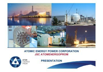 ATOMIC ENERGY POWER CORPORATION JSC ATOMENERGOPROM PRESENTATION
