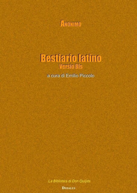 Bestiario latino Bestiario latino - Senecio