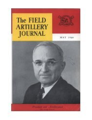 THE FIELD ARTILLERY JOURNAL - MAY 1946 - Fort Sill - U.S. Army