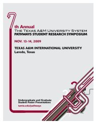 7th Annual TAMUS Pathways Online Program with Abstract