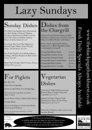Food fit for a lazy Sunday - Black Pig