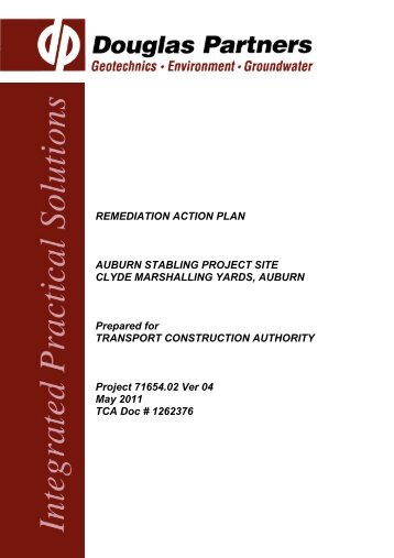 REMEDIATION ACTION PLAN AUBURN STABLING PROJECT SITE ...