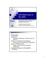 GIS Mash-Ups on the Web - UNC Asheville
