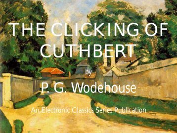 The Clicking of Cuthbert - Penn State University