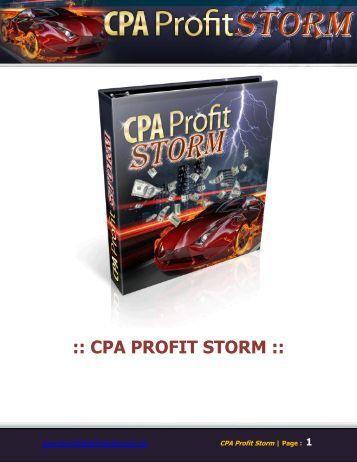 CPA PROFIT STORM - How To Make Money Formula