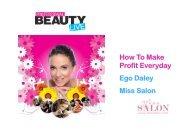 HOW TO MAKE PROFIT EVERYDAY MISS SALON SLIDE SHOW