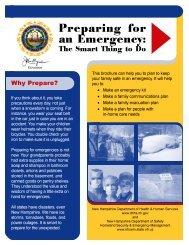 Preparing For An Emergency - NH.gov