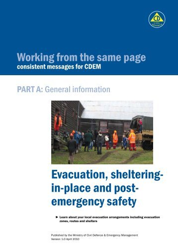 Evacuation, sheltering- in-place and post- emergency safety