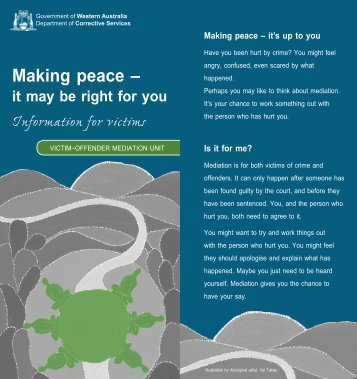 Making peace - Department of Corrective Services