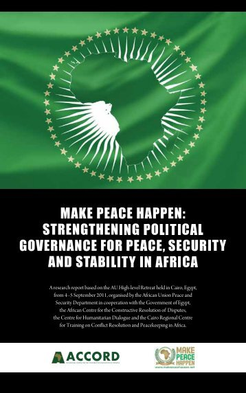 Strengthening Political Governance for Peace - ACCORD