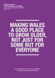 MAKING WALES A GOOD PLACE TO GROW OLDER, NOT JUST ...