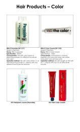 Hair Products – Color - EYP Business Showcase Pages