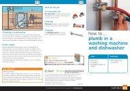 how to... plumb in a washing machine and dishwasher - B&Q