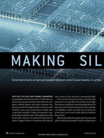 Making Silicon Lase - University of Virginia