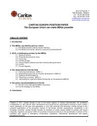 CARITAS EUROPA POSITION PAPER The European Union can ...