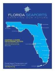 2015/2016 Five Year Seaport Mission - Florida Ports Council