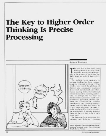The Key to Higher Order Thinking Is Precise Processing - ASCD