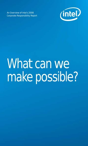 What can we make possible? - Intel Ireland