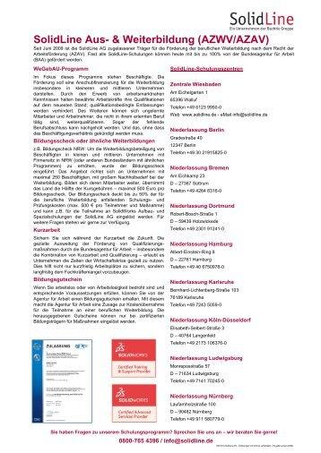 AZAV-zertifiziert - SolidLine AG