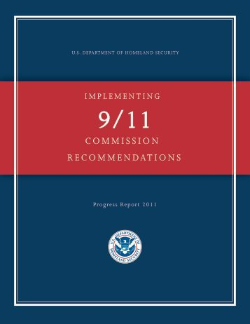 Implementing 9/11 Commission Recommendations Progress Report ...