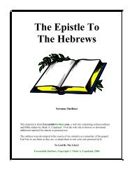 The Epistle To The Hebrews - Executable Outlines