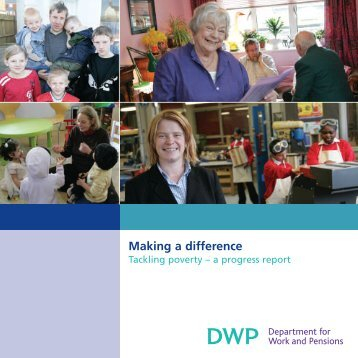 Making a difference - Tackling poverty - a progress report