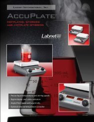 - Precise liquid temperatures and stirring speeds - Digital display ...