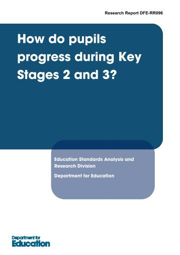 How do pupils progress during Key Stages 2 and 3?