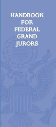 HANDBOOK FOR FEDERAL GRAND JURORS - US District Court ...