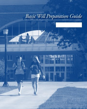 Basic Will Preparation Guide - Meredith College
