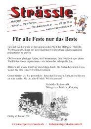 Menüangebot (pdf 530 KB) - Metzgerei Strässle
