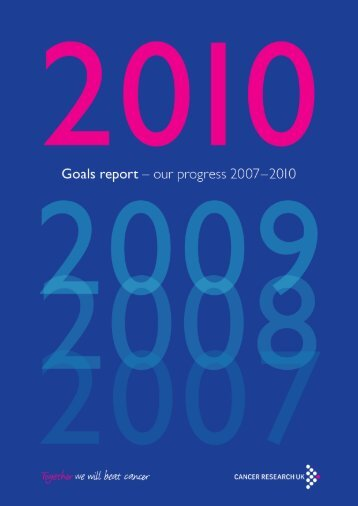 Our progress - Cancer Research UK