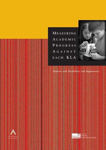 Measuring Academic Progress Against Each KLA