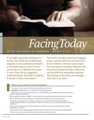 With the book of hebrews - Bible Study Magazine