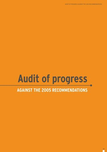 Audit of progress - Commission for Africa