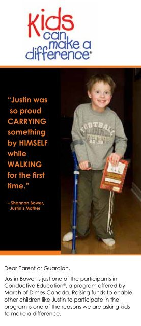 """""""Justin was so proud carryinG something by ... - March of Dimes"""